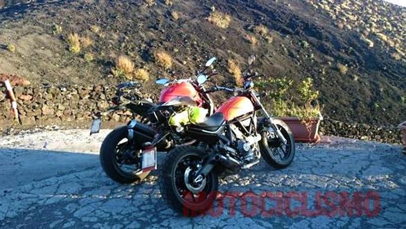 Ducati Scrambler 400 spied