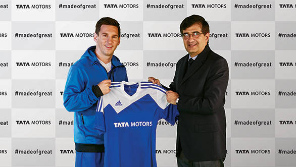 Lionel Messi endorses Tata Motors