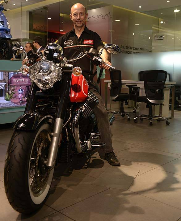 Stefano Pelle, group managing director, inaugurated India's first Motoplex store