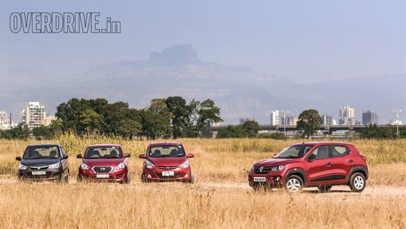 Comparo: Renault Kwid vs Datsun Go vs Hyundai Eon vs Maruti Suzuki Alto