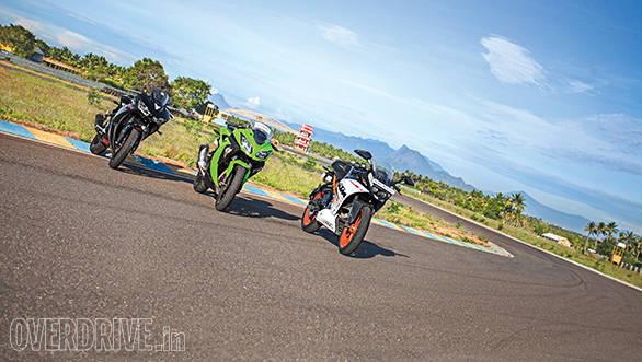 Track test: Yamaha YZF-R3 vs KTM RC 390 vs Kawasaki Ninja 300
