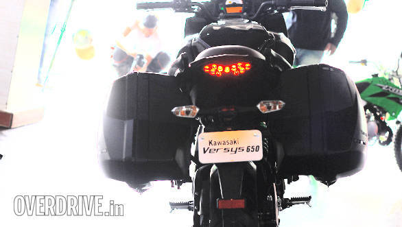 The new tail end plastic on the 2015 Versys 650 helps luggage integration in a better way