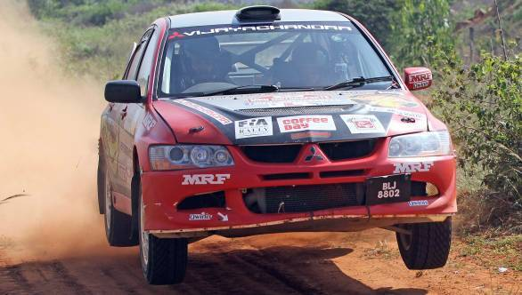Lohitt Urs and Shrikanth Gowda clinched the Indian Rally Championship title at Chikmagalur