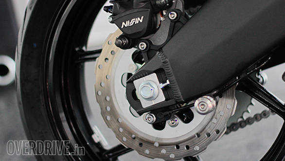 The 2015 Kawasaki Versys gets new 250mm petal style rotor with single-piston caliper and ABS