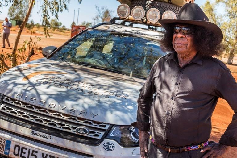An Aboriginal  bushman in western dress