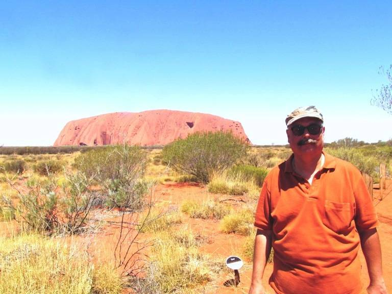 At the famous Ayers Rock
