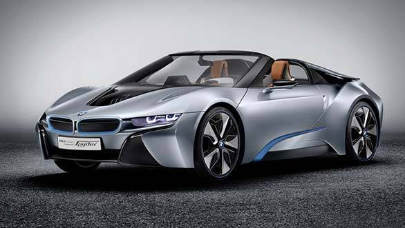 Expect the 2016 i8 Spyder to look a little different from this concept shown in 2012. It will most likely be quite close to the i8 coupe