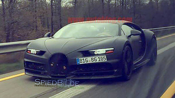 Spy pictures show the Chiron will be sharper and angrier looking than the Veyron