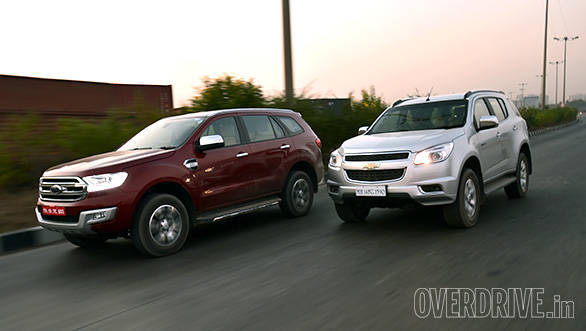 Exclusive comparo 2016 Ford Endeavour vs Chevrolet Trailblazer