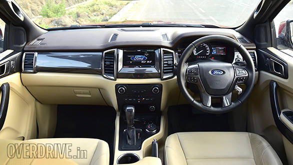 The dashboard and feature list of the 2016 Ford Endeavour has been completely revamped