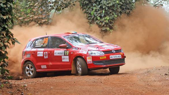 Dean Mascarenhas made it to second overall and heads the IRC 1600 class at Chikmagalur