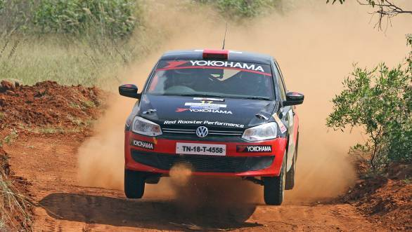 Karna Kadur and Vivek Ponnusamy won the IRC 1600 title