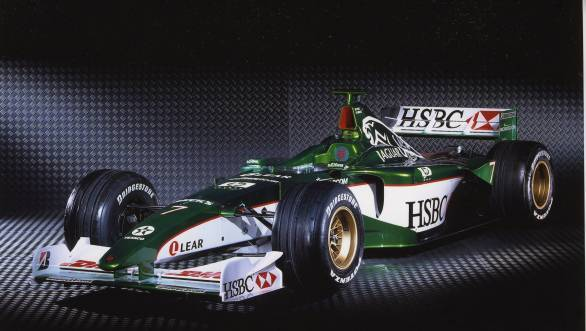 Jaguar's iconic British racing green, seen here on their F1 car, could soon make it to Formula E