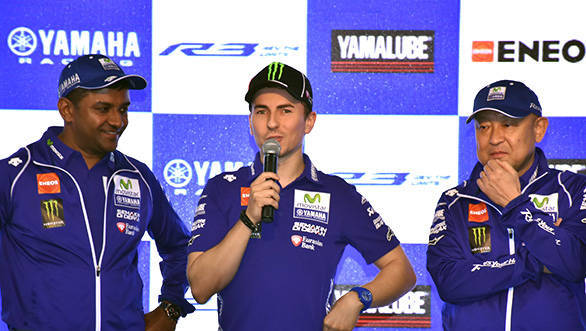 MotoGP champion Jorge Lorenzo comes to the BIC with Yamaha India