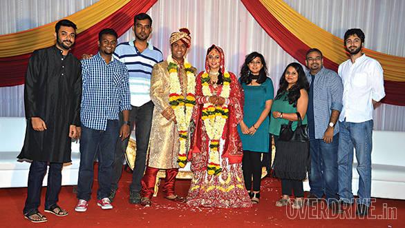 Congratulations Rishabh and Rashmi! The dress code was in fine print though. . .