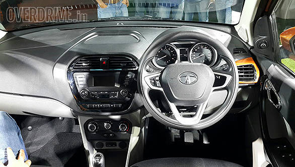 Inside the Tata Zica, there is a two-tone dashboard that follows the same theme seen in the Zest and the Bolt