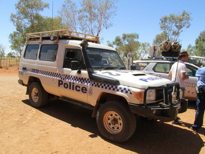 The police use Toyota Land Cruisers fitted with winches and extra lights