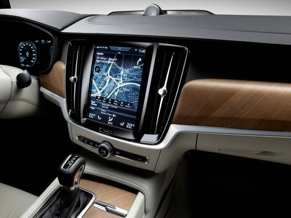 No more trademark floating console. Instead, there's a large tablet like touchscreen display for the Sensus infotainment system