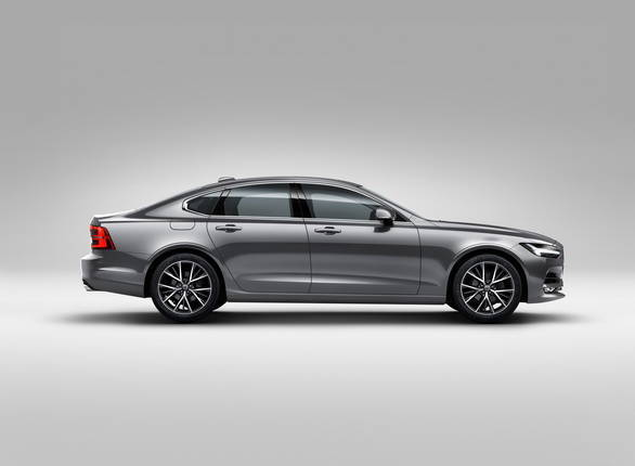 The S90 boasts a long, low and subtly muscular side profile. - width=