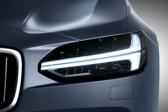 The 'Thor's Hammer LED headlight is going to be the signature of the design