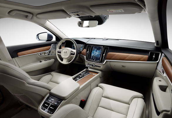 Plush cabin reminds strongly of the XC90, a very good thing that