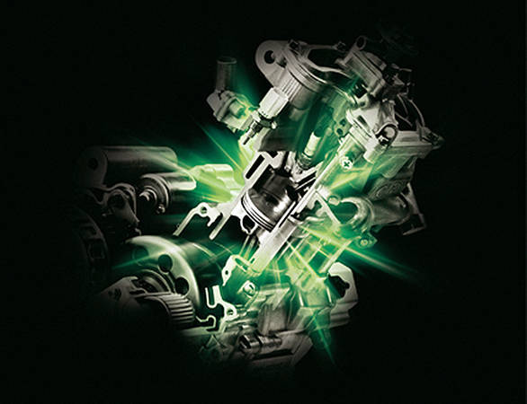 All Yamaha has shared about the 150cc engine is the image. We doubt it glows green...