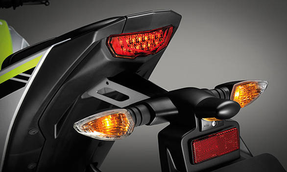 Slim tail features a minimalist LED brake light