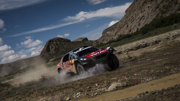 Sebastien Loeb continues to lead the Dakar overall in the car category after Stage 5 of the event