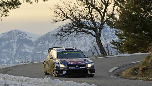 Sebastien Ogier en route to victory at what he considers his home rally - Monte Carlo