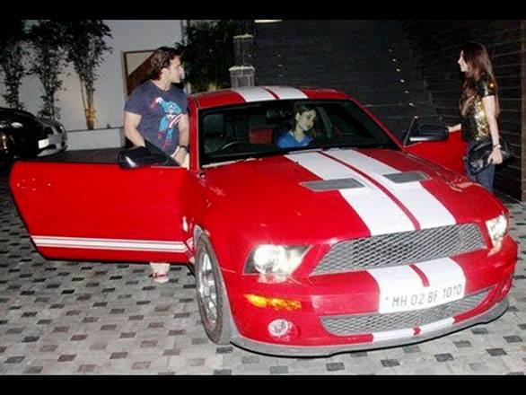 Saif Ali Khan with his Mustang