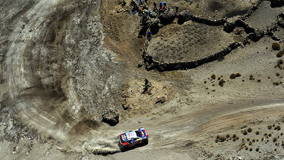 Sebastien Loeb (FRA) from Team Peugeot-Total performs during stage 06 of Rally Dakar 2016 around Uyuni, Bolivia on January 8, 2016 // Eric Vargiolu / DPPI / Red Bull Content Pool // P-20160110-00098 // Usage for editorial use only // Please go to www.redbullcontentpool.com for further information. //