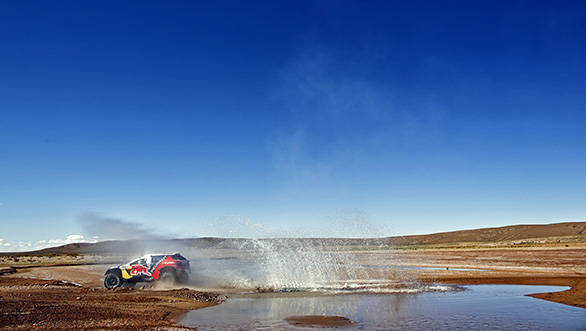 Carlos Sainz (ESP) from Team Peugeot-Total races during stage 07 of Rally Dakar 2016 from Uyuni, Bolivia to Salta, Argentina on January 9, 2016 // Frederic Le Floc'h / DPPI / Red Bull Content Pool  // P-20160111-00116 // Usage for editorial use only // Please go to www.redbullcontentpool.com for further information. //