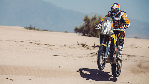 Antoine Meo (FRA) from Red Bull KTM Factory Team performs during stage 9 of Rally Dakar 2016 from Belen to Belen, Argentina on January 12, 2016. // Flavien Duhamel/Red Bull Content Pool // P-20160112-00121 // Usage for editorial use only // Please go to www.redbullcontentpool.com for further information. //