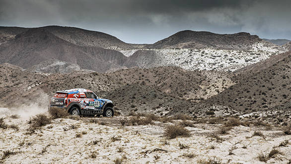 Jakub Przygonski (POL) from Orlen X-Raid Team performs during stage 10 of Rally Dakar 2016 from Belen to La Rioja, Argentina on January 13, 2016. // Flavien Duhamel/Red Bull Content Pool // P-20160113-00152 // Usage for editorial use only // Please go to www.redbullcontentpool.com for further information. //