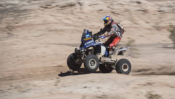 Marcos Patronelli (ARG) of Yamaha Racing Team races during stage 11 of Rally Dakar 2016 from La Rioja to San Juan, Argentina on January 14, 2016 // Marcelo Maragni/Red Bull Content Pool // P-20160114-00589 // Usage for editorial use only // Please go to www.redbullcontentpool.com for further information. //