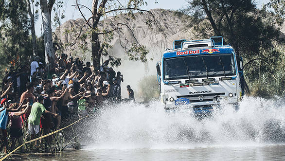 Andrey Karginov (RUS) from Team Kamaz Master races during stage 11 of Rally Dakar 2016 from La Rioja to San Juan, Argentina on January 14, 2016. // Flavien Duhamel/Red Bull Content Pool // P-20160115-00003 // Usage for editorial use only // Please go to www.redbullcontentpool.com for further information. //