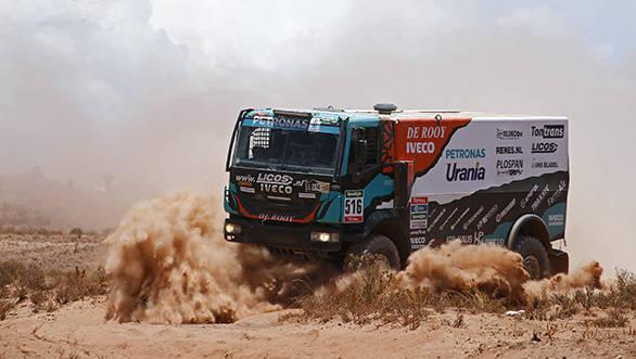 516 VAN GENUGTEN TON VAN LIMPT ANTON VAN EERD PETER (nld) IVECO action during the Dakar 2016 Argentina,  Bolivia, Etape 6 - Stage 6, Uyuni - Uyuni,  from  January 8, 2016 - Photo Frederic Le Floc'h / DPPI