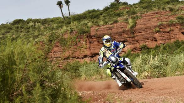 Sherco TVS rider Juan Garcia Pedrero is currently 10th overall, while his team-mate Duclos is fifth