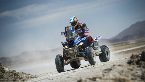 Winning the sixth stage of the Dakar puts Marcos Patronelli second overall in the quad class standings