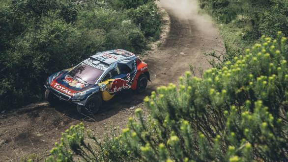 Making a mark on the Dakar is Sebastien Loeb. Here he is en route his second stage win at what is his first ever attempt at the treacherous rally