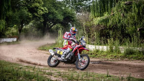 The 2016 edition of the Dakar could well be Joan Barreda Bort's lucky year. He currently leads the motorcycle class overall.