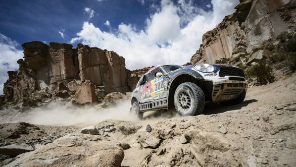 Nasser Al-Attiyah brought his Mini home fourth in the first half of the marathon stage in Jujuy