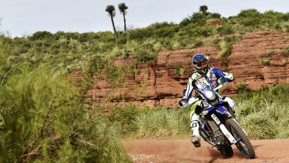 Florent Vayssade is currently 33rd overall for Sherco TVS, while his team-mate Duclos is 10th after Stage 4