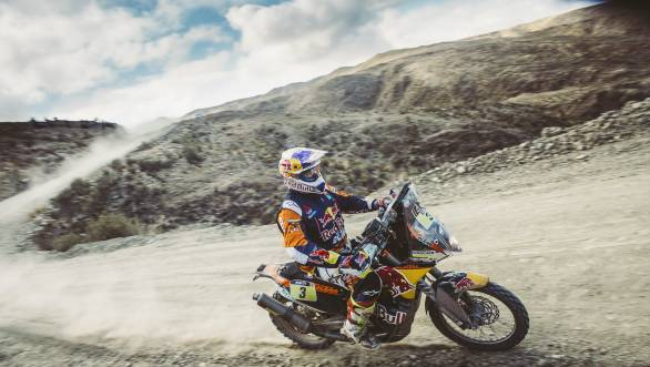 Toby Price claimed his second stage win in the 2016 edition of the Dakar