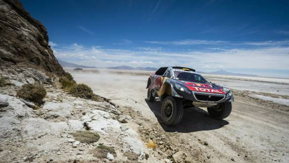 Stage 6 win gives Stephane Peterhansel overall lead in the rally
