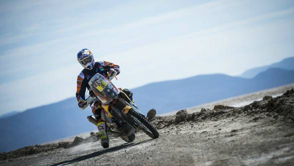 Third stage win for Toby Price at the 2016 edition of the Dakar