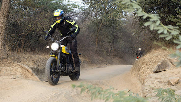 Ducati Scrambler in the dirt