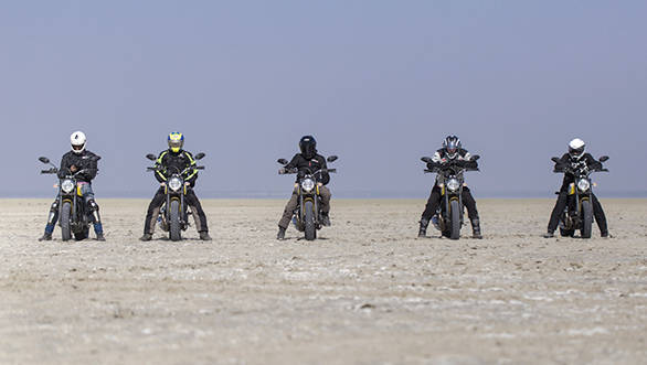 Ducati Scramblers on Sambhar Lake