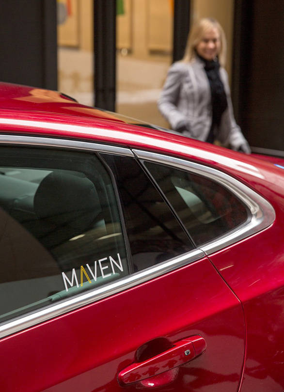 Maven offers five different Chevrolet cars for hire