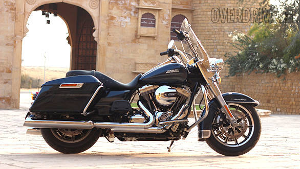 Long, low, loaded, slammed and sweet, the  Harley-Davidson Road King has great road presence and is as comfortable for all-day riding as it looks